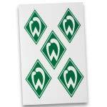 Werder Bremen Nachtleuchtende Aufkleber 5 Stück grün weiß