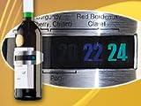 Rosenstein & Söhne Weinthermometer: Praktisches Flaschen-Thermometer für Wein, Sekt, Saft u.v.m. (Wein-Außenthermometer)