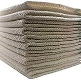 10 x Bodenwischtuch Scheuertücher Bodenwischtuch Wischlappen Baumwolle und Syntetic Fasern Scheuerlappen saugstark weiß Bodentuch Putzlappen Aufnehmer 50 X 50 (10)