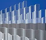 Acryl - Lichtplatten - 3 mm - Profil 76/18 Sinus * glatt klar * (Euro 24,80 qm)