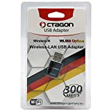OCTAGON WL088 Optima USB WLAN Adapter 300 Mbit/s - 2.4GHz Wireless Band Mini WiFi Stick, WiFi 4 Standard (802.11 b/g/n), Plug&Play Dongle für Sat-Receiver, IP TV Box, Desktop PC/ Computer, Notebook