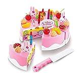 #N/V Praktische Kunststoff-Küchenspielzeug, für Kinder, Rollenspielzeug, DIY, lustig, zum Schneiden von Geburtstagstorten