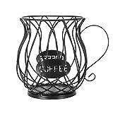 Kaffeekapselkorb, Kaffeepad-Organizer, Kaffee Pod Halter Kaffee Kapsel Lagerung Korb Kaffee Pod Organizer Halter Speichern Raum für Home Cafe Hotel Bar Perfektes Kaffeezubehör Große Kapazität