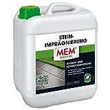 MEM Stein-Imprägnierung - 5 L - Wasserabweisend – Schmutzabweisend – Abperleffekt – Transparent - Imprägniert Pflastersteine, Terrassen, Terracotta, Ton, Klink