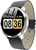 Smart Watch Farbbildschirm Herren Fashion Fitness Tracker Pulsmesser Blutdruck Schrittzähler Smartwatch für Android IOS-E
