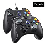 REDSTORM 2X PC Controller mit Kabel für PS3 / Windows PC, Wired PC Gamepad mit Turbo-Funktion(Dauerfeuer), Dual Vibration, Plug and Play