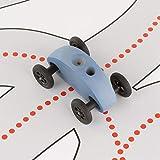 Trihorse Fingercar Spielzeugauto aus Holz - Schult die Feinmotorik - Holzspielzeug für Kinder & Erwachsene - Premium Holzfahrzeug (Fingercar mit Fahrbahn, Blau)