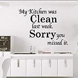 Vinyl Wandaufkleber kreative Aufkleber Küche Reinigung selbstklebende wasserdichte Kinderzimmer Haushalt Aufkleber Wandbild Wandverzierungen 74x56