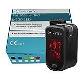 SALO MED M130 - Tragbarer SpO2 LED OXIMETER - PULSOXIMETER Fingerpulsoximeter, digitaler Sofortleser Pulsleser, Ein-Tasten-Betrieb,