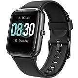 UMIDIGI Uwatch3 Smartwatch Fitness Tracker Herrenuhr 5 ATM wasserdichte Smart Watch Armbanduhr Pulsuhr Schrittzähler mit Herzfrequenz Schlaftracker für Damen Herren Kompatibel Android IOS, Schwarz