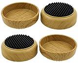Lifeswonderful® Möbeluntersetzer mit rutschfestem Gummifuß, schützt Ihre Böden und verhindert, dass Möbel rollen, 4 Stück