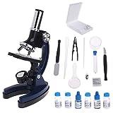 Jkckha. Kinder Kind Biologisches Mikroskop Set Student Pädagogisches Spielzeug 100x 600x 1200x