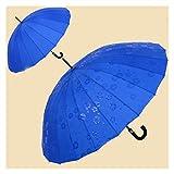 SRQOESFF Regenschirm Regenschirme ändern Blumen Wasser Automatik-Regenschirm for Frauen-Mann Anti-UV Sonne Regen Stockschirm Schutz vor dem Regen (Color : Blue)