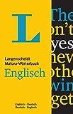 Langenscheidt Matura-Wörterbuch Englisch: Englisch-Deutsch/Englisch-Deutsch (Langenscheidt Abitur-Wörterbücher)