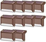 Ghlevo 10 Pack-Outdoor-Solardeck-Lichter, solarbetrieben LED Stufenlicht, warme weiße Lichter für Geländer, Garten, Schritte, Zaun