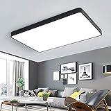 LED Deckenleuchte, LED Deckenlampe Für Wohnzimmer,Schlafzimmer,Balkon -Super helle Deckenleuchte, Deckenleuchte Wohnzimmer, Schwarz (Weißes Licht, 40×60cm)