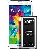 EMNTT-Akku für Samsung Galaxy S5, verbesserter Ersatz, 3210 mAh, für S5 Akku der neuesten Technologie