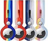 iPCA AntiScratch-Schutzhülle für Apple AirTag, AirTags Apple Hülle, Zubehör mit Schlüsselanhänger, Liquid Silicone Anhänger, Taschenanhänger, Gepäckanhänger, Hundehalsband Anhänger