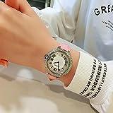 ZJZ AMZ heiße Neue Frauenuhr Mode voller Diamant Shi Shiki, Großhandel grenzübergreifende Uhr Watch2020 (Color : Silver Shell PINK)