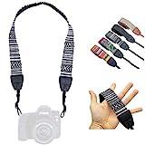 Lens-Aid Kameragurt in schickem Design: Leinen Nacken- BZW. Schultergurt geeignet für Kameras von Canon, Nikon, Sony, Fujifilm, Olympus, L