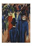 Spiffing Prints Ernst Ludwig Kirchner - Kirchner Berlin Straßenszene 1913 Giclée, extra groß, seidenmatt, ung