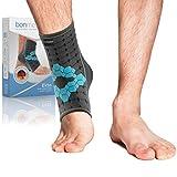 bonmedico Ekto Fußgelenk-Bandage, Sport Sprunggelenkbandage, stützt und stabilisiert bei Fußgelenkschmerzen, ultradünne Knöchelbandage zur Schonung für links & rechts, unisex, M