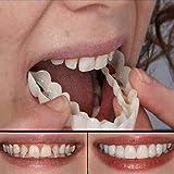 Mify Wiederverwendbare Zahnersatzabdeckung, temporäre Zahnersatz, kosmetische Zahnveneers Zähne Zahnersatz