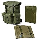 Militär-Rucksack mit Alice-Pack-System mit Rahmen aus Legierung und selbstaufblasender Luftmatte.