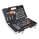 Werkzeugkoffer Werkzeugset Werkzeug im praktischen Koffer Universal Werkzeugkiste Werkzeugkasten für den Haushaltbereich Werkzeugtrolley inkl. vielseitigem Zubehör Werkzeugtrolly (94-teilig)