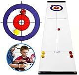 MEETOZ Tisch-Curling-Spiel, lustiges Familien-Schreibtisch-Spiel, kompaktes Curling-Spiel, geeignet für Indoor-Brettspiele der ganzen Familie, Kinder und Erwachsene (Stil A).