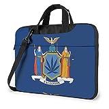 Laptop Umhängetasche Satchel New York NY Staatsflaggen Stoßfest Bussiness Messenger Laptop Tasche Handtasche Schultertasche 15,6 Zoll