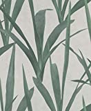 Rasch Tapeten (Industrial) Grau grüne 10,05 m x 0,53 m Brick Lane 427028 Vliestap