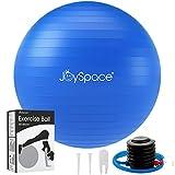 JOYSPACE Gymnastikball 65cm Sitzball Extra Dicker Yoga-Ball-Stuhl Anti-Berst-Stabilitätsball Pilates Ball als Fitness Kleingeräte und Balance Stuhl im Büro Hause Fitnessstudio inkl. Luft-Pumpe,Blau