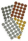 Yabaduu Tupfen Set Wandtattoo 4 Farben auf 4 Din A4 Bögen insgesamt 96 Aufkleber Punkte Dekor für Kinderzimmer Babyzimmer Dekor Selbstklebend (Y043-03 Grün)