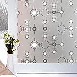LMKJ Selbstklebende Glasabdeckung konzentrischer Kreis feuchtigkeits- und UV-beständige Fensterfolie, verwendet für Heimdekorglasfolie A20 45x100cm