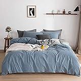 JIEJIELL Luxus 3pc Bettbezug Set,Qualität Ultra Seidig Weiche Premium-bettwäsche-Kollektion,Gewaschen Mikrofaser Bettbezug Für Männer Frauen-Blue Plaid 220x240cm(86.6x94.5inch)