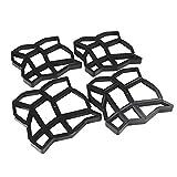 KingSaid 4X DIY Pflasterform Betonform Betonpflaster Gießform Schablone Schalungsform für Garten Gehweg, Wandverblender, Verb