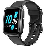 YAMAY Smartwatch für Herren und Damen mit Blutdruckmessgerät Herzfrequenzmesser Fitness Schrittzähler Kalorienzähler IP68 für Huawei Xiaomi Samsung Android iOS Smartphone