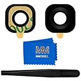 MMOBIEL Linse von Back Kamera Ersatz kompatibel mit Samsung Galaxy S6 G920 /S6 Edge G925 (Schwarz) mit Pinzette und T