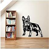 WYLYSD Nette Französische Bulldogge Hund Wandaufkleber Home Decoration Aufkleber Art Cut Hund Tapeten Home Decor Wandbild 57X60Cm