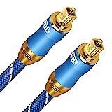 Optisches Kabel, EMK Digitales Toslink Kabel Kompatibel mit Soundbar für tv geräte, PS4 Pro, Xbox, Heimkino (1.8m)
