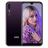 Android Smartphone ohne Vertrag KXD A1 Günstig Handy mit Dual SIM, 16GB Speicher (128 GB erweiterbar), Mobile Phone 5,71 Zoll IPS Display 5MP Kameras 3 in 1 Steckplatz, Global Version-Lila