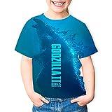 SSMEILI Unisex Godzill-a Vs King Kon-g Kurzarm Sommer Mode T-Shirt 3D Gedruckt Grafik Tees Tops für Jungen Mädchen 5-15 Jahre Gr. XS, Weiß 9