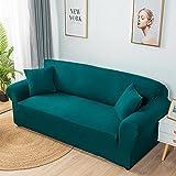 Super Stretch Couch Bezug,1-teilige Universal-Sofabezüge Wohnzimmer Spandex Möbelschutz Hunde Anti-Rutsch Haustierfreundliche Couch Schonbezug-Green__Single_Seat(90-140cm/35-55inch)
