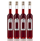Burgspitz® 4 Flaschen à 0,5 Liter Beerenlikör Beerenliqueur, Kultbrand Nürnberg, Direkt vom Hersteller, Sensationell, Höchste Qualitäts Prinzipien Likör 500