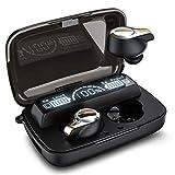 Bluetooth Kopfhörer In Ear Kabellos Bluetooth 5.0 Kopfhörer 156H Playtime Deep Bass Hi-Fi Stereo Sound Wireless Ohrhörer mit Mikrofon, IPX7 Wasserdicht, Smart LCD Digitalanzeige Ladekoffer X18-1