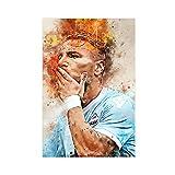 Poster mit internationalem Fußballspieler Ciro Immobilie, Sportbeförderung, 1 Leinwandbild, Wandkunst, Dekordruck, Gemälde für Wohnzimmer, Schlafzimmer, Dekoration, ungerahmt, 40 x 60 cm