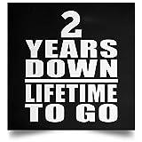 2nd Anniversary 2 Years Down Lifetime to Go - Poster Square Rechteckig Der Plakatgestaltung 16 x 16 Zoll - Geschenk zum Geburtstag Jahrestag Muttertag Vatertag Ostern
