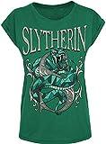 Harry Potter Slytherin Frauen T-Shirt grün L 100% Baumwolle Fan-Merch, Filme, Slytherin