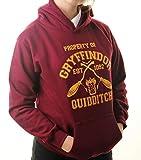 Harry Potter Kapuzenpullover inspiriert Gryffindor Quidditch Team Pullover Erwachsene Größen Gr. S, kastanienbraun